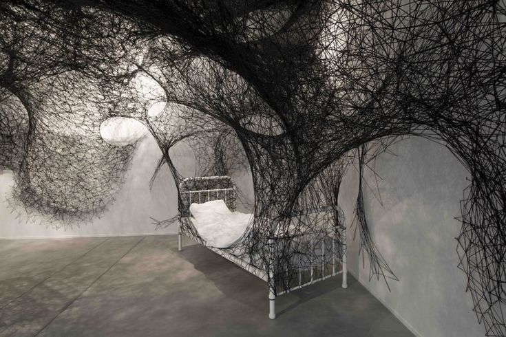 Juxtapoz Magazine - Large-scale Installations by Chiharu Shiota