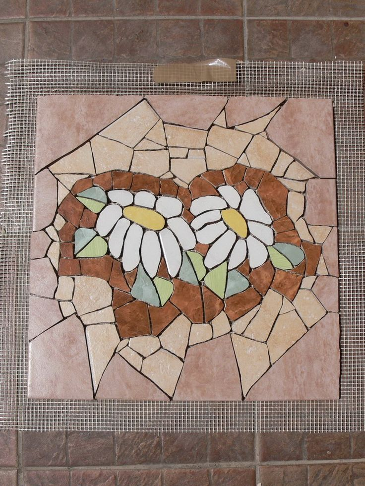 Mosaic stepping stone - in the making