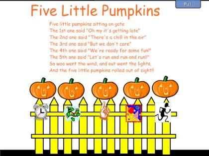 17 Best ideas about 5 Little Pumpkins on Pinterest | Five ...