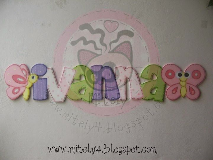 IVANNA's name with butterflies and her favorite colors #mitely #namegirl #babygirl #butterflies #sweetcolors