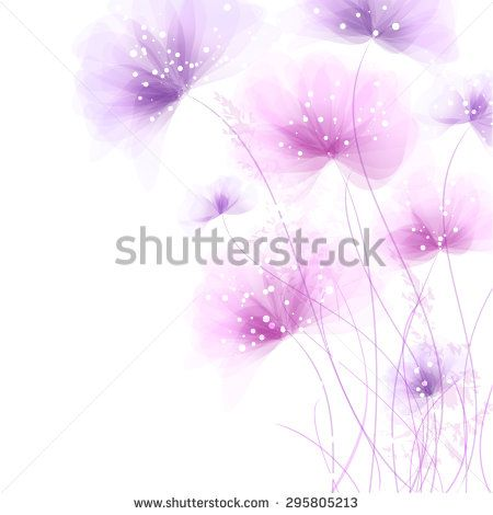 Vector background with flowers. EPS 10. Contains transparent objects.