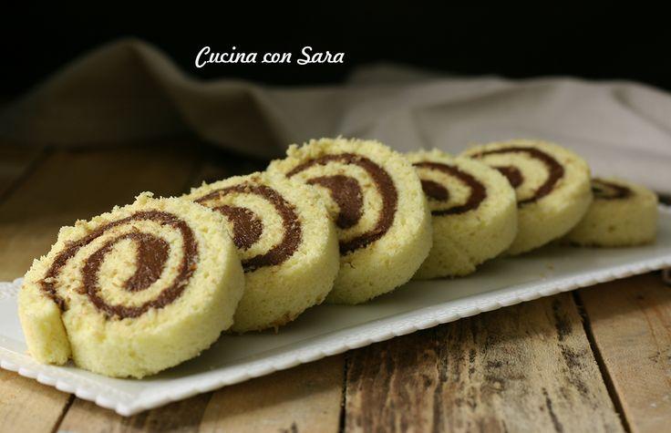 Rotolo cioccolato e cocco - solo 7 minuti di cottura