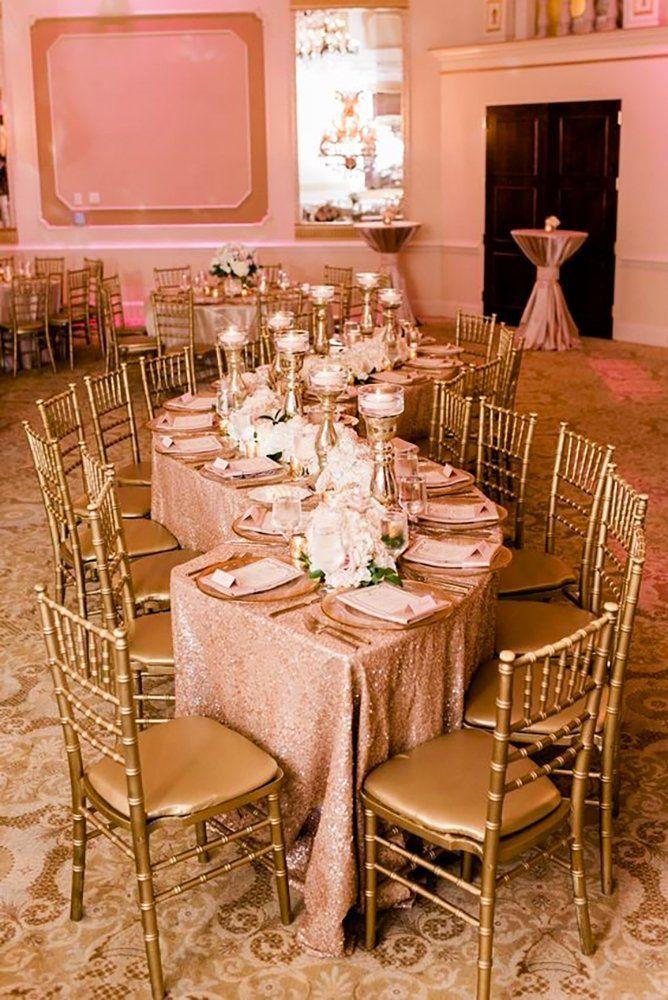42 Glamorous Rose Gold Wedding Decor Ideas Rose Gold Wedding Decor Gold Wedding Decorations Pink And Gold Wedding