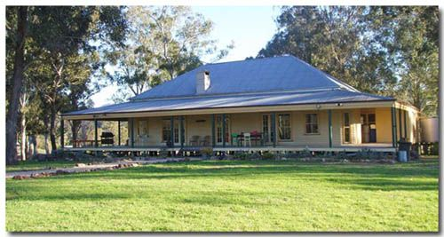 Traditional Classic Australian Farmhouse -- hip roof, wrap around deep verandah, yummy!