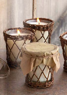 Park Hill Collection candles in wicker & glass, reusable containers. Our all time favorite and best seller is the fragrant Back Porch- a lovely combination of spring hyacinths and violets. http://www.carriagehousefurnishings.com/