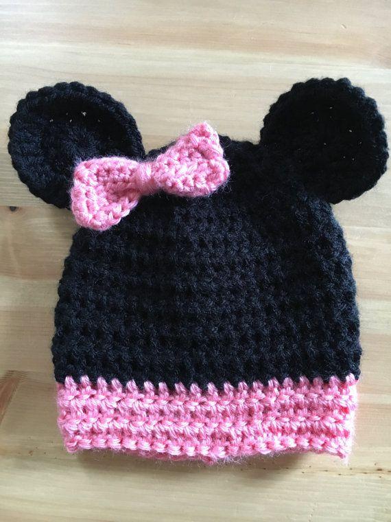Minnie Mouse Inspired Hat Disneyland Hat by LittleBayBlueDesigns