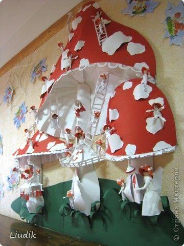 Коллективная работа Аппликация Бумагопластика Серия Человечки Бумага Бумага гофрированная Картон Салфетки фото 10