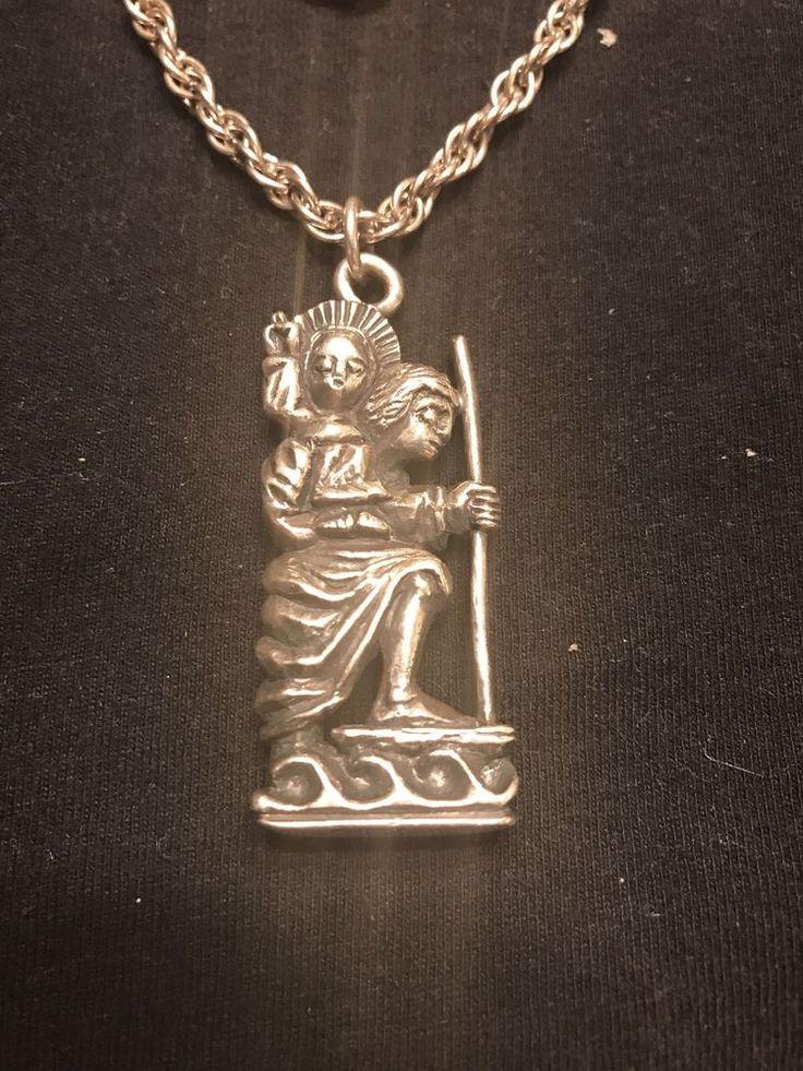 JAMES AVERY Pendant / Necklace Vintage 1980's Sterling Silver St. Christopher #JamesAvery #Pendant