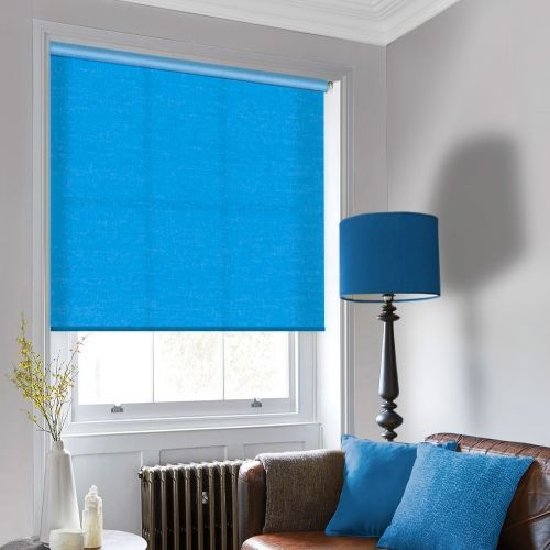 Sale Atlantic Plain Blue Roller Blind
