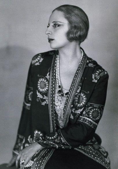 Tamara de Lempicka (1898-1980) born Maria Górska in Warsaw, Poland,Photograph by Mme D'Ora