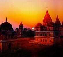 Cenotaphs of Orchha. India. by vadim19
