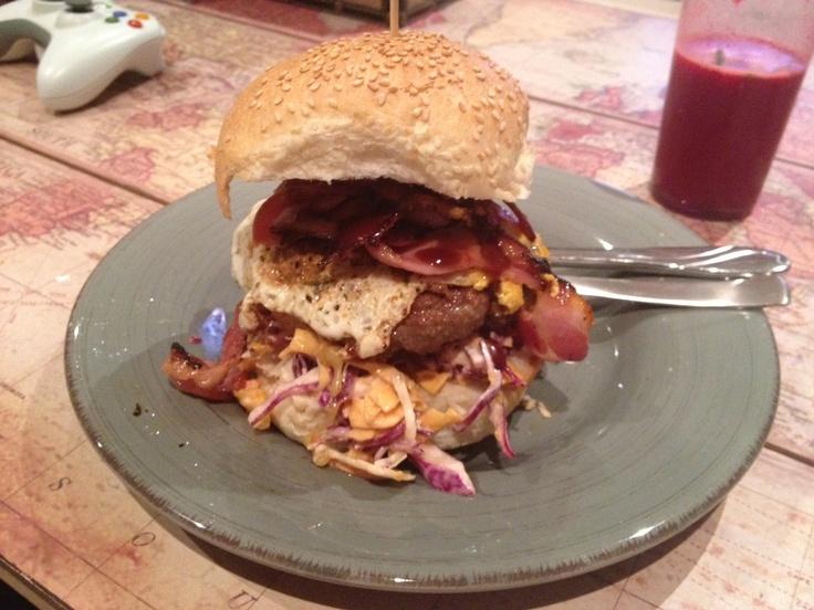 Heart attack burger!