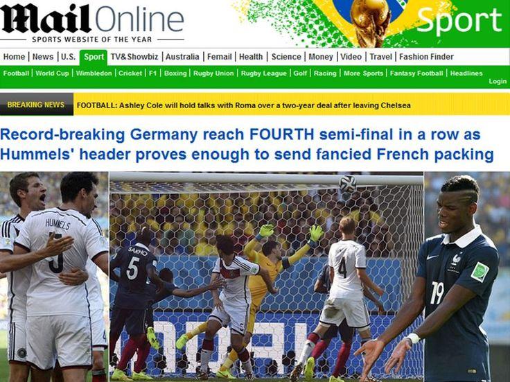 Frankreich Germany   WM 2014: Frankreich - Deutschland: Internationale Pressestimmen WM ...