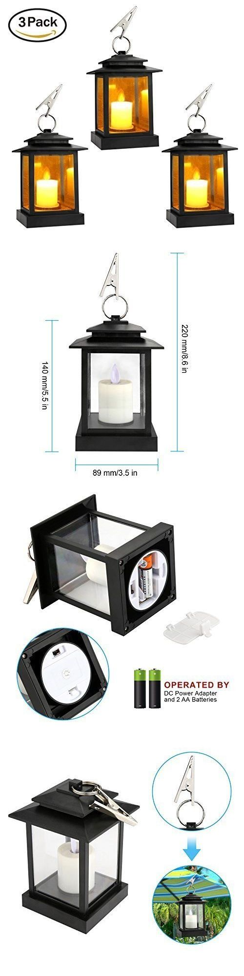Outdoor D cor Candle Lanterns 183392: Decor Candle Lanterns Outdoor-Indoor Set ?F 3 Lanterns With Led Pillar 5 Hours -> BUY IT NOW ONLY: $44.99 on eBay!