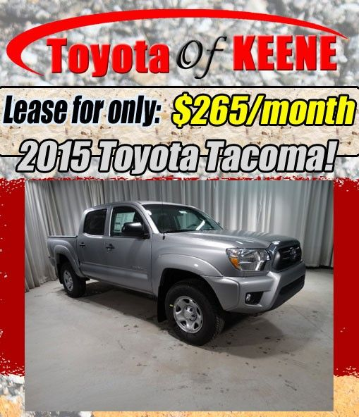 New 2015 Toyota Tacoma Lease Special at Toyota of Keene, NH!