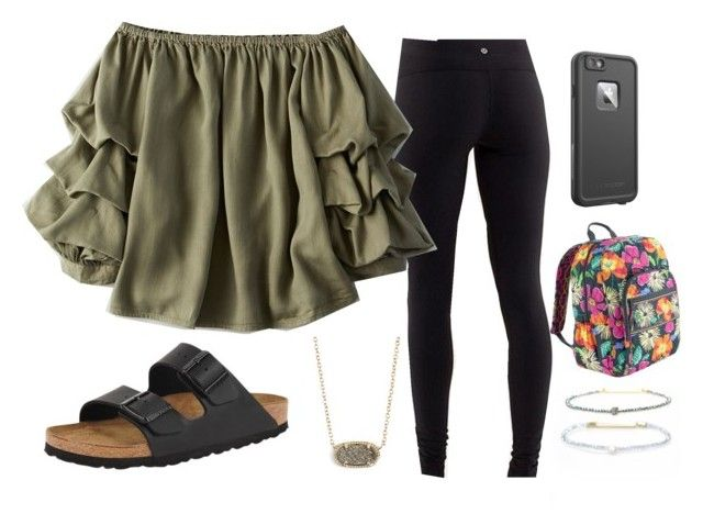 """Homecoming's tomorrow!"" by lorla3407 ❤ liked on Polyvore featuring American Eagle Outfitters, Birkenstock, Kendra Scott, LifeProof and Vera Bradley"