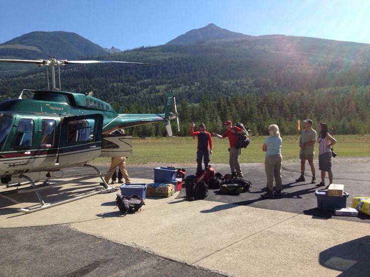 First hiking groups summer 2015 loading for Mallard Mountain Lodge.