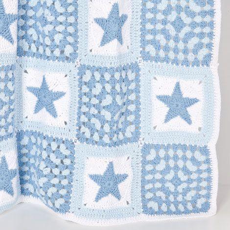 Manta Crochet Estrellas   ZARA HOME España