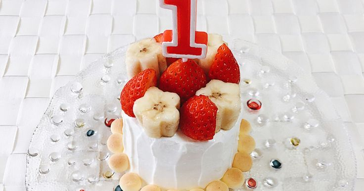 祝☆話題入り☆  市販品を利用して、簡単に作れるバースデーケーキです。 離乳食中の1歳児にピッタリ♪