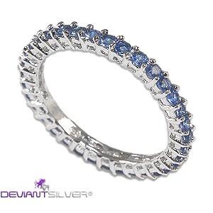 Gioiello fedina in argento 925 con zirconi zaffiro a tuttogiro.  925 silver jewelry ring with cubic zirconia sapphire.  http://www.deviantsilver.com/lovely-sapphire-fedina-argento-925-gioiello-con-zirconi-graffati-zaffiro-p-298.html