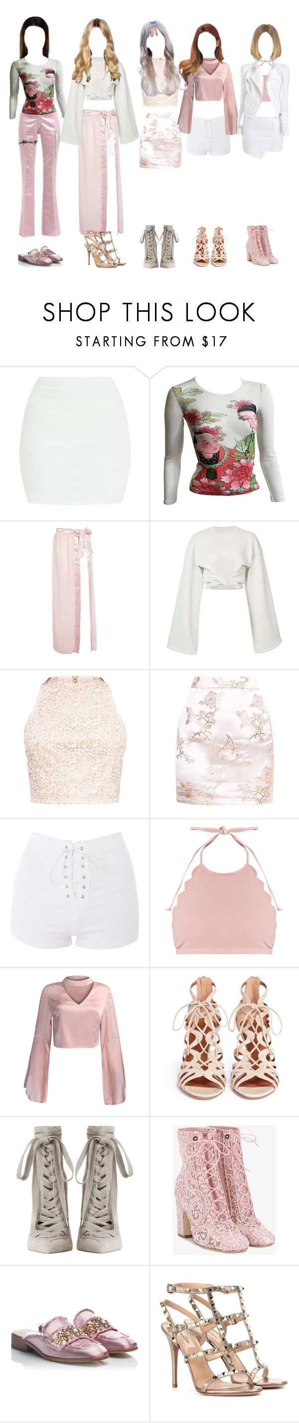 """first tour no.2"" by taekook-junghyung ❤ liked on Polyvore featuring Dilara Findikoglu, Kenzo, Boohoo, Y/Project, Topshop, Marysia Swim, WithChic, Alexandre Vauthier, Aquazzura and Zimmermann"