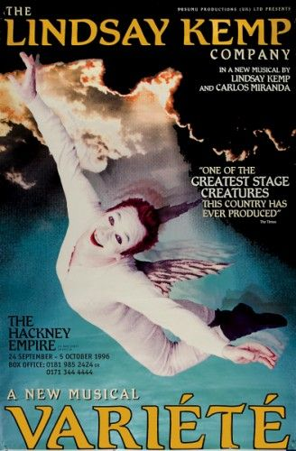 The Lindsay Kemp Company In a new musical by Lindsay Kemp and Carlos Miranda. Original offset lithograph, printed in London, 1996. #performingarts #music
