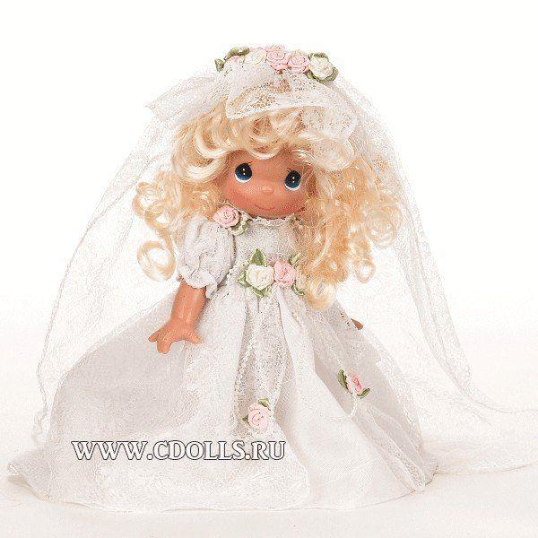 Кукла Precious Moments Свадебный Колокол Невеста Блондинка, 23 см.