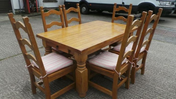 Farmhouse style pine chunky table and chairs Dunmurry  : 78824db1a41e506fbe55412d82581357 from www.pinterest.com size 736 x 414 jpeg 57kB