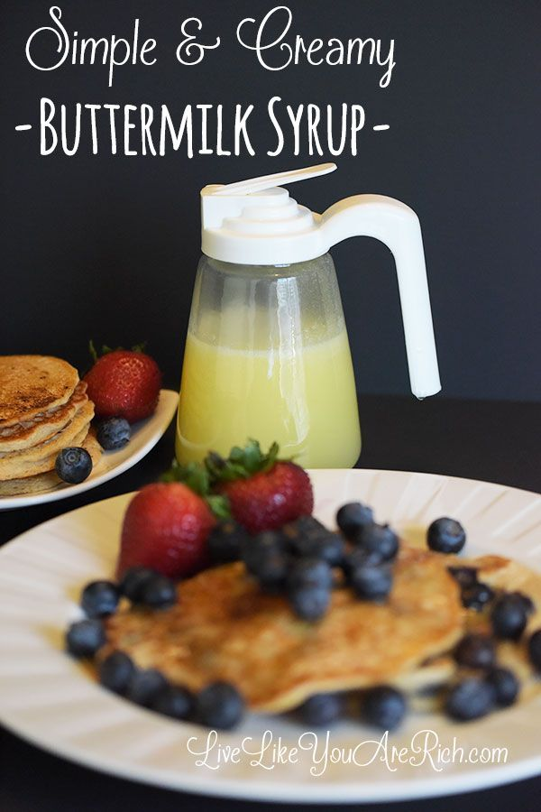 Simple Homemade Buttermilk Syrup Recipe #LiveLikeYouAreRich