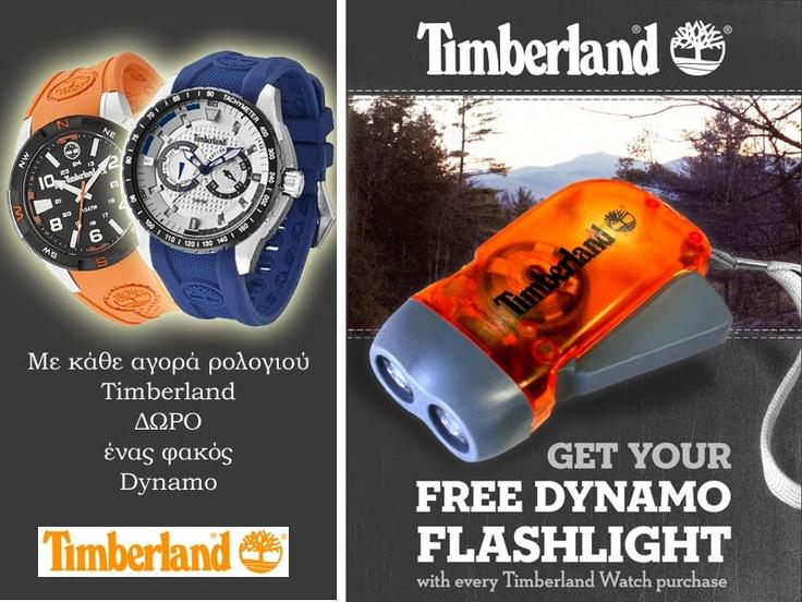 Ρολόγια TIMBERLAND + Δώρο έναν φακό DYNAMO!  http://www.oroloi.gr/index.php?cPath=596