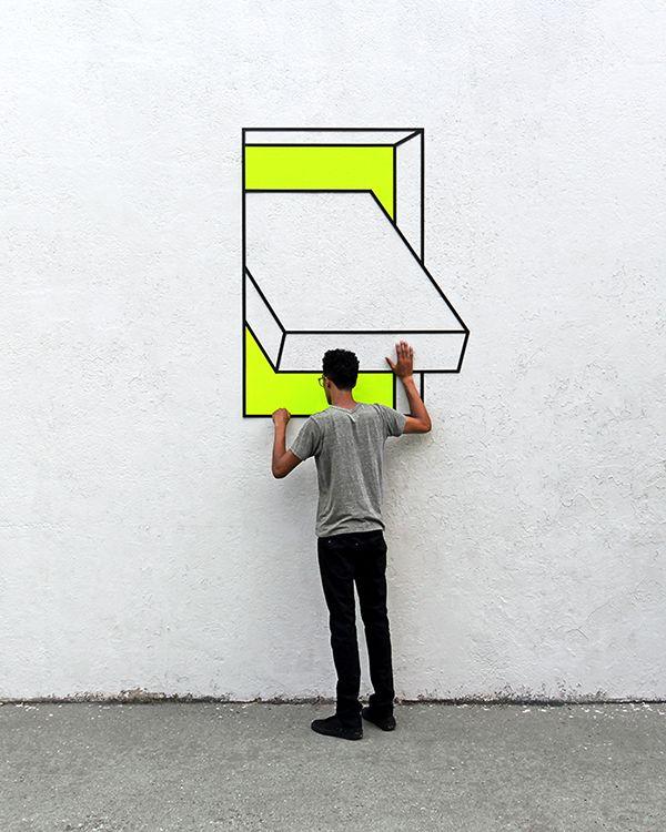 Le street-art géométrique d'Aakash Nihalani