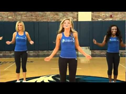 Dallas cheerleaders exercising workout speeded up if you are in a hurry fast motion - YouTube