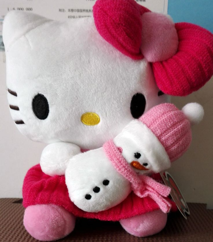 Hello kitty snowman plush doll peluches hk pinterest