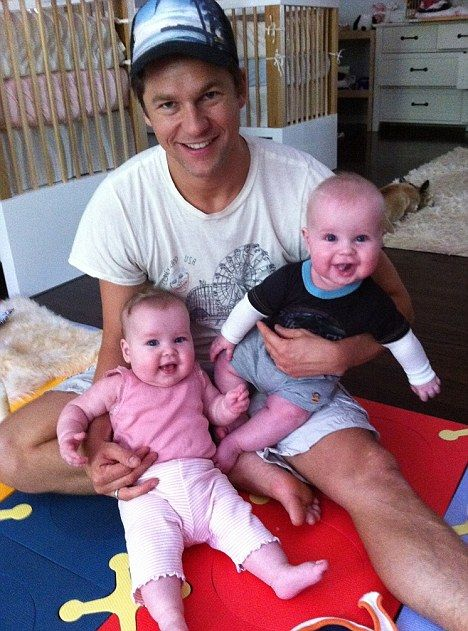 """My heart is full of love..."" said Neil Patrick Harris, as he commented on this photo of his partner David Burtka, and twins Harper and Gideon...new family!"