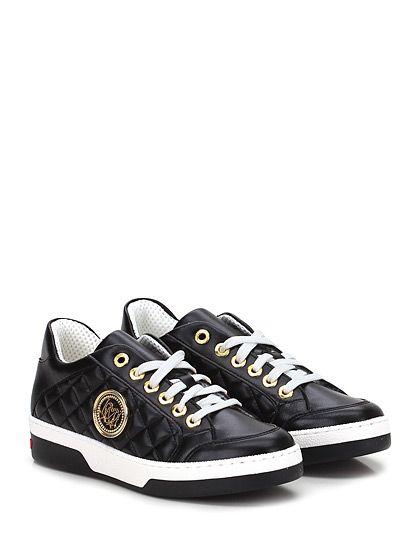 LOVE MOSCHINO - Sneakers - Donna - Sneaker in eco pelle con suola in gomma, tacco 40, platform 25 con battuta 15. - NERO - € 162.30