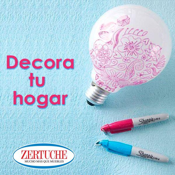 Decora un foco con marcador permanente y tu cuarto tendrá tu diseño cuando prendas la luz   #DIY