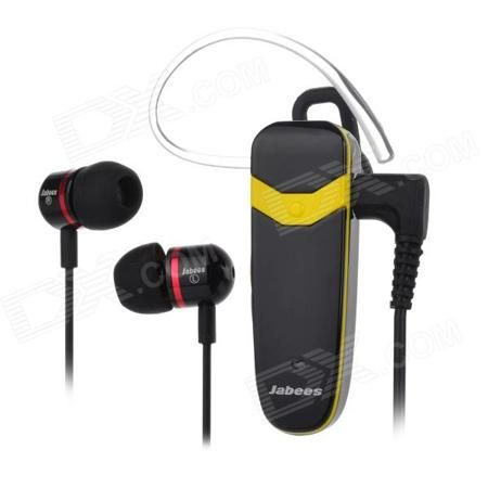 Jabees Victor Universal Bluetooth V3.0 Music Stereo Earphone w/ Mic. - Black + Yellow (48h)  — 1325.9 руб. —  Color Black + Yellow Brand Jabees Model Victor Material ABS Quantity 1 Piece Shade Of Color Black Ear Coupling In-Ear Bluetooth Version V3.0 Operating Range 10m Radio Tuner No Microphone Yes Supports Music Yes Connects Two Phones Simultaneously Yes Applicable Products IPHONE 5IPHONE 4IPHONE 4SOthersIPHONE 5SIPHONE 5CUniversal and suitable for all Bluetooth enabled phones such as…