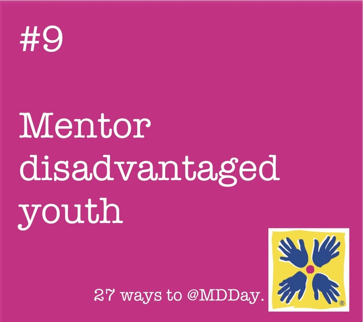 Help change a life this #MDDay12! Great programs like Big Brothers Big Sisters of America can help you find volunteer opportunities near you.