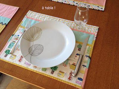 DIY tuto Sets de table réversibles sur cmoikikou