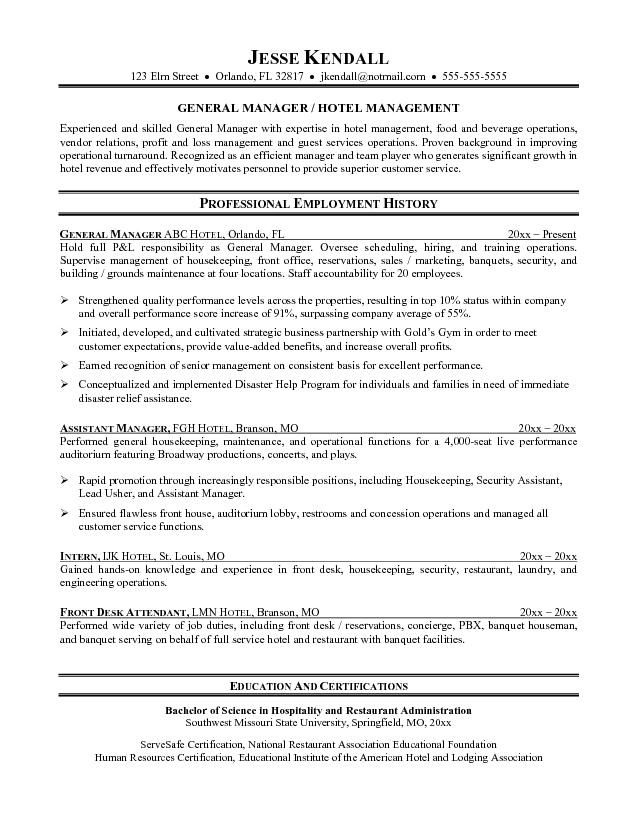 The 25+ best Skills on resume ideas on Pinterest Resume help - hotel resume example