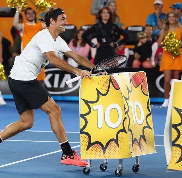 AO 2018 - Roger Federer - Journée des enfants - Rod Laver Arena - Melbourne
