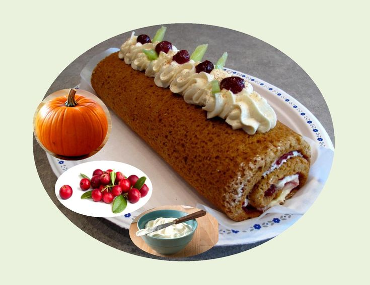 Pumpkin Cranberry Spice Roll - Powered by @ultimaterecipe