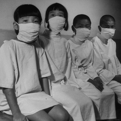 Victims of a Bomb in Hiroshima Waiting to Be Examined by A.B.C.C