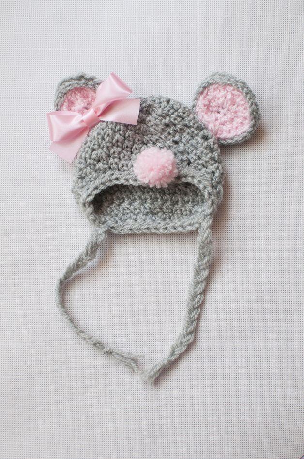 Mouse newborn hat