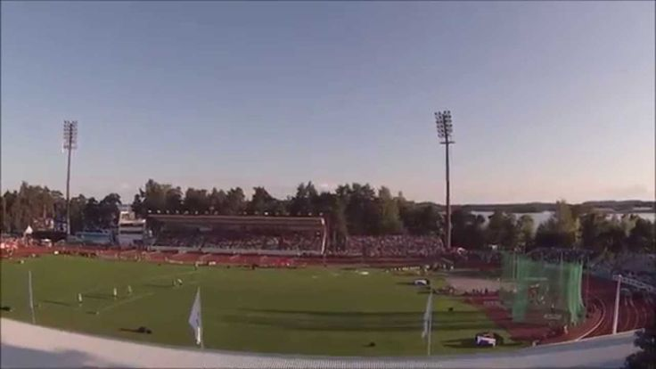 Aerial video highlighting casual activities at Väinölänniemi, Kuopio, Finland at the time when Kalevan Kisat 2014, the largest yearly track & field event in Finland was held there.