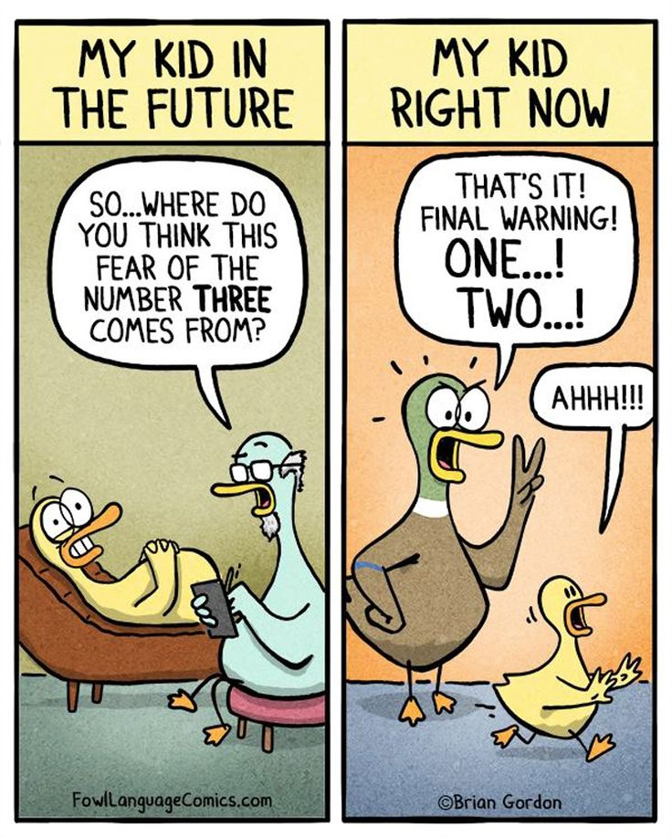 15 hilarious parenting comics that are almost too real. Uh oh, I always count to 3...