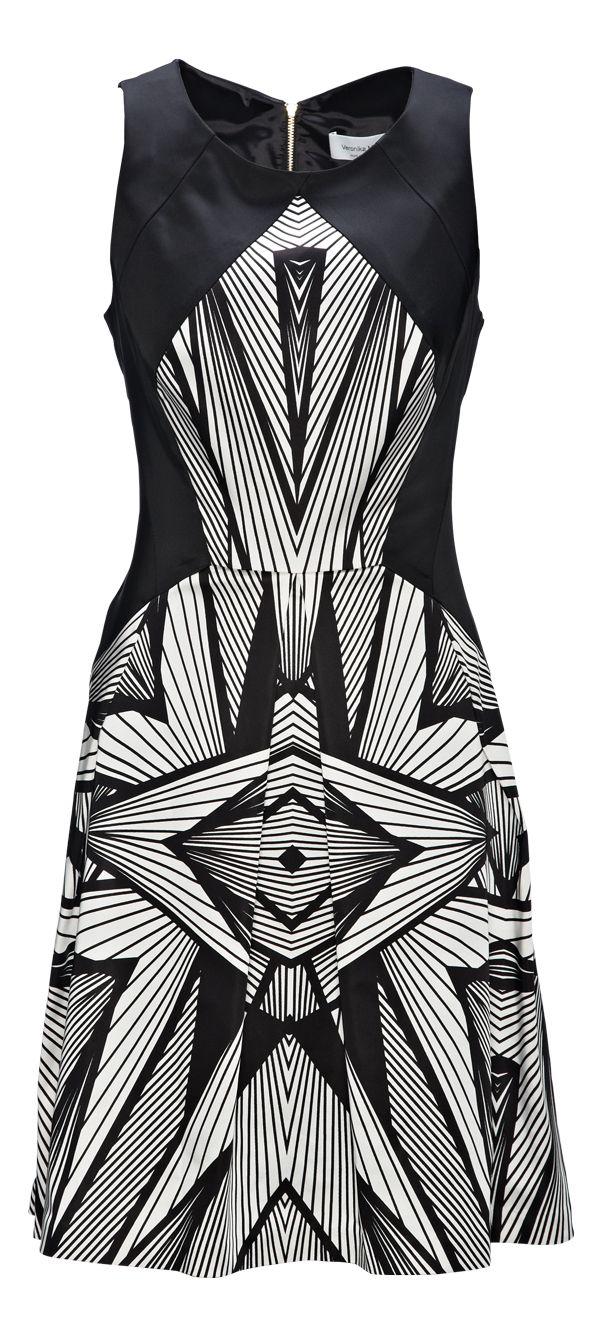 Geometric Dress from Veronica Maine. #monochrome