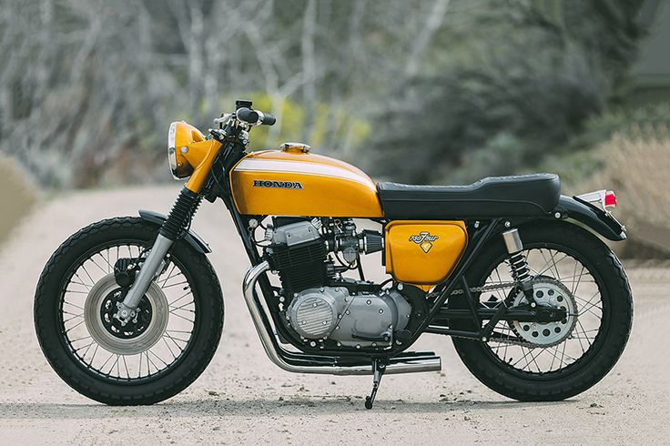 "8negro: Honda CB750 ""Golden Goose"":: Rawhide Cycles."