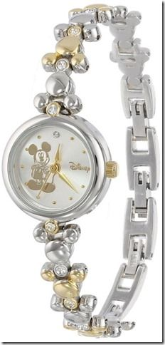 Disney Discovery- Mickey Mouse Two Tone Link Bracelet Watch
