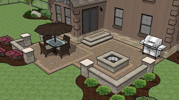 patio design ideas with pavers | Patio Ideas: How to Successfully Design a Paver Patio! : Paver Patio ...